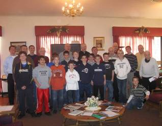 Boys' visit was an occasion of holiday cheer in the Year for Priests