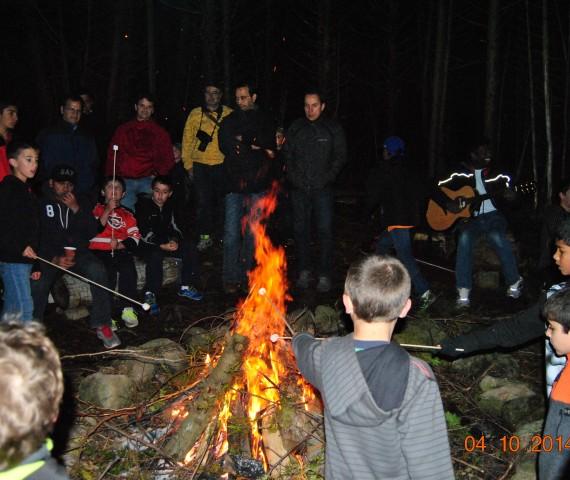 DadNSon Nite - campfire